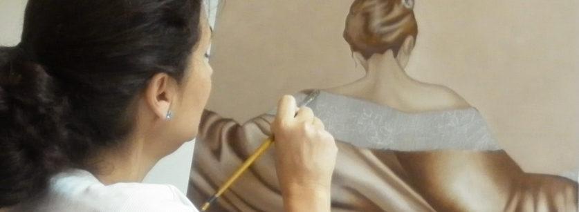 MA en train de peindre